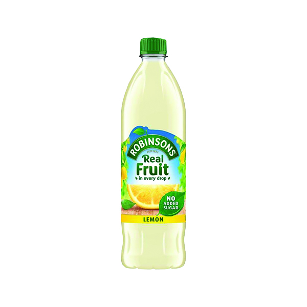 Cold Drinks Robinsons Lemon Squash No Sugar 1 Litre A02103