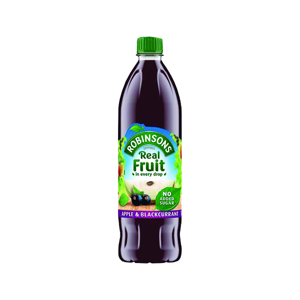 Cold Drinks Robinsons Apple/Blackcurrant Squash No Sugar 1 Litre 402013