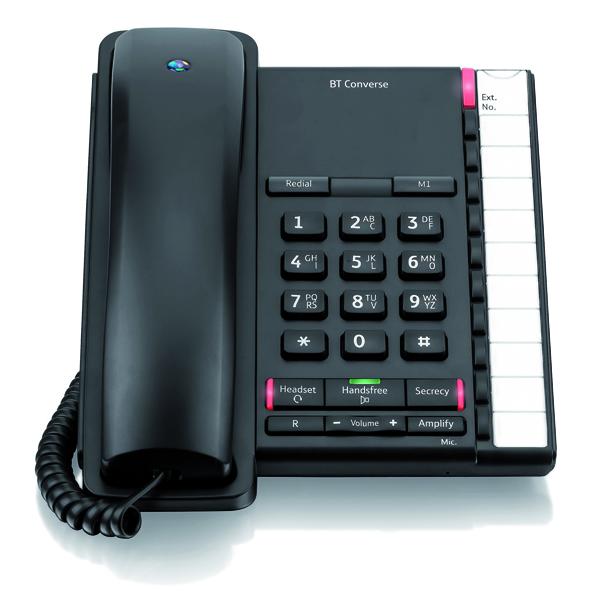 Telephones BT Converse 2200 Black Corded Phone 040208