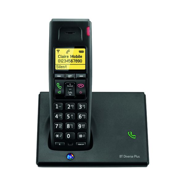 Telephones BT Diverse 7110 R DECT Cordless Black Phone 060743