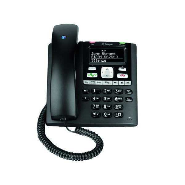 Telephones BT Paragon 650 Corded Phone With Answer Machine 032116