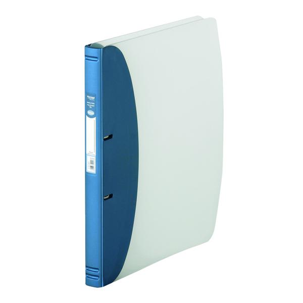 Hermes Heavy Duty Ring Binder Polypropylene A4 Metallic Blue 332207