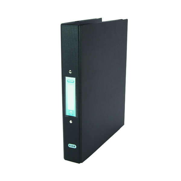 A4 Size Elba Black A4 2 Ring Binder 25mm (10 Pack) 400001512