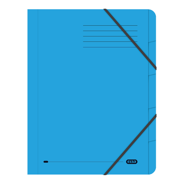 Folders Elba Strongline 5-Part File A4 Blue (5 Pack) 100090166