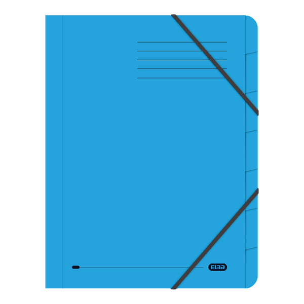 Folders Elba Strongline 7-Part File A4 Blue (5 Pack) 100090169