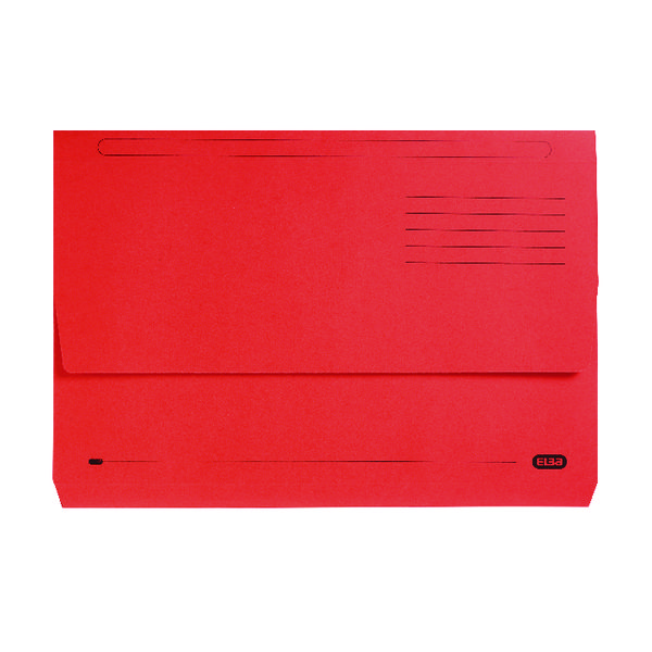 Foolscap Elba StrongLine Document Wallet Bright Manilla Foolscap Red (25 Pack) 100090136
