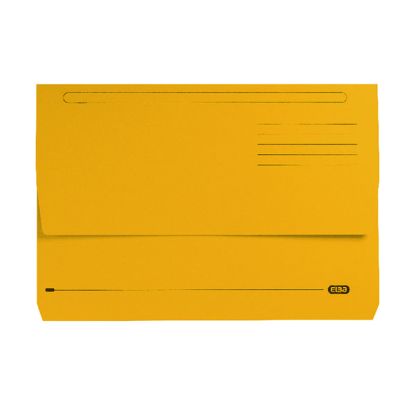Elba Strongline Document Wallet Bright Manilla Foolscap Yellow (25 Pack) 100090141