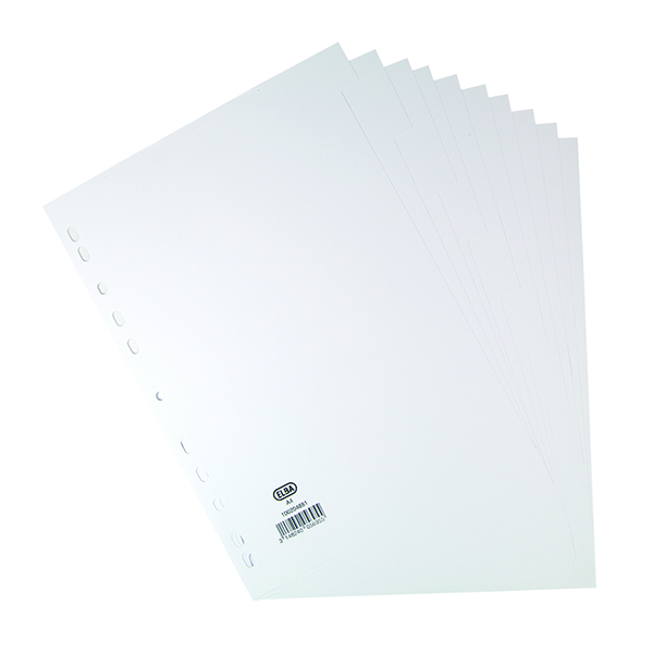 Dividers Elba 10-Part Divider 160gsm White A4 100204881