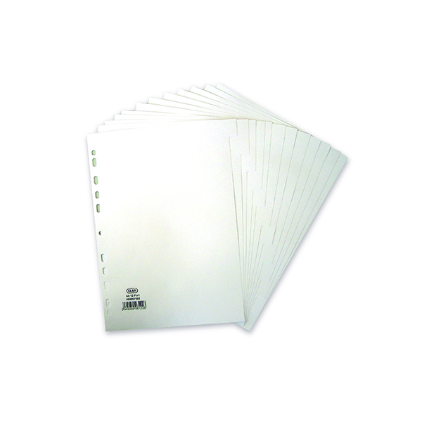 Elba 12-Part Divider 160gsm White A4 400007502