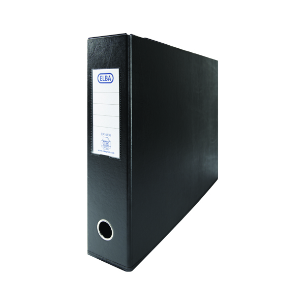 Elba 70mm Lever Arch File A3 Black (2 Pack) 400008440