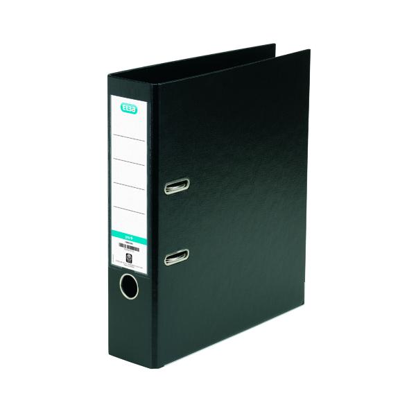 Elba 70mm Lever Arch File Plastic Black A4 100080904