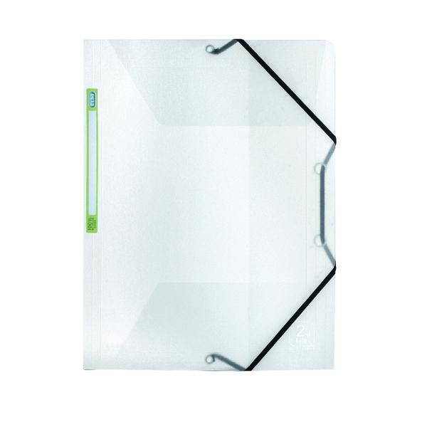 Elba 2nd Life Three Flap Folder A4 Clear 400059426