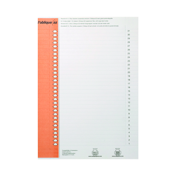 Inserts Elba Suspension Files Label Sheet Lateral (10 Pack) 100330212