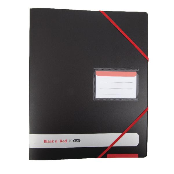 Elba Black n Red 16mm 4 Ring Binder A4 400078863