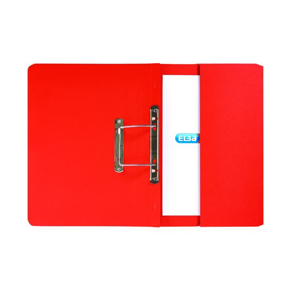 Files Elba Strongline Spring Pocket File Foolscap Red (25 Pack) 100090278
