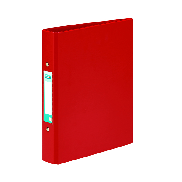 A5 Size Elba 25mm 2 O-Ring Binder A5 Red (10 Pack) 100082444
