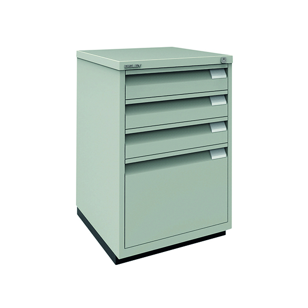 Combi-Units Bisley 3 Plus 1 Filing Cabinet Flush Fronted Goose Grey 1F3EGY