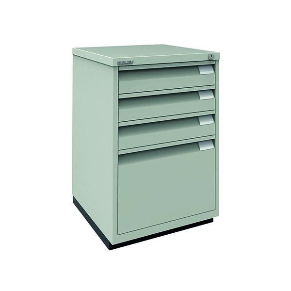 Bisley 3 Plus 1 Filing Cabinet Flush Fronted Goose Grey 1F3EGY