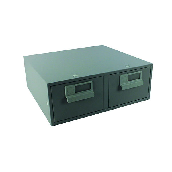 Card Index Storage Bisley Card Index Cabinet 152x102mm Double Grey FCB24