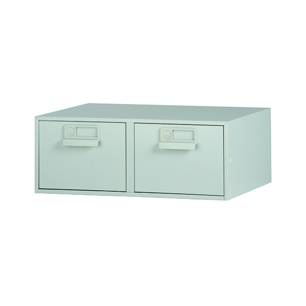 Card Index Storage Bisley Card Index Cabinet 203x127mm Double Grey FCB25