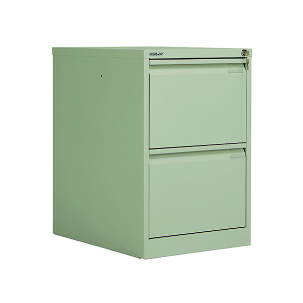 Two-Drawer Bisley 2 Drawer Filing Cabinet Flush Fronted Goose Grey BS2EGY