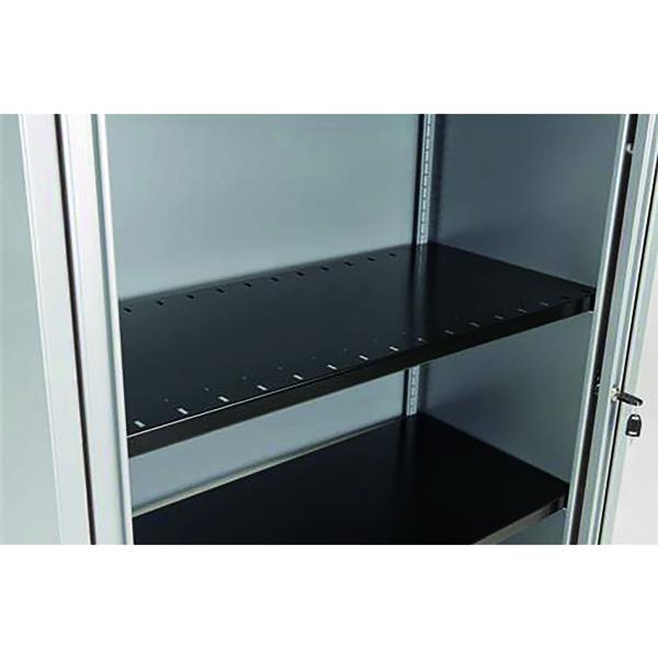 Bisley Slotted Shelf Black BSSGY