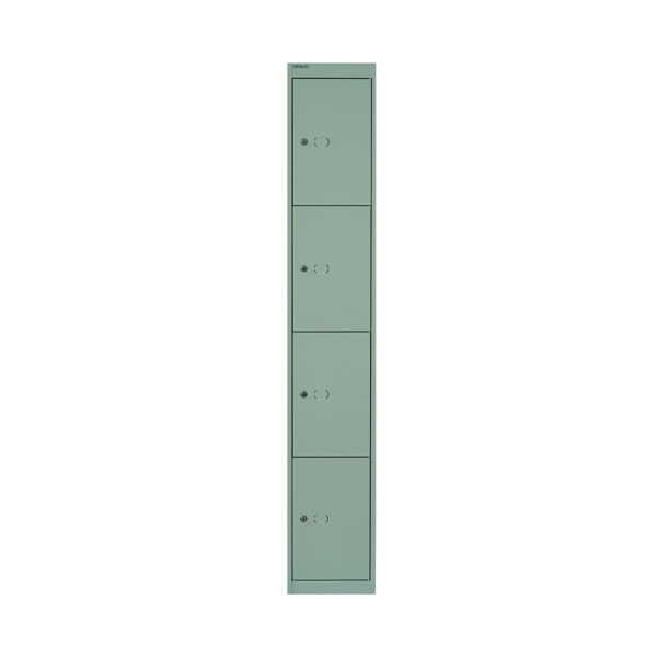 Cupboards H over 1200mm Bisley 4 Door Locker D457mm Goose Grey BY02537