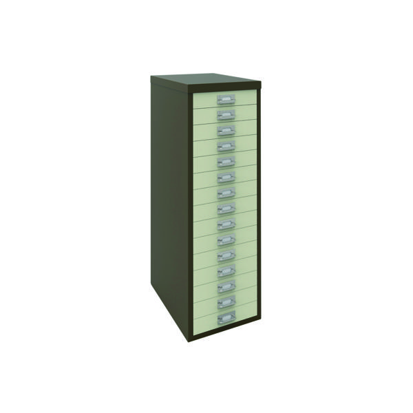 Multi-drawer Bisley 15 Drawer A4 Cabinet Coffee/Cream H3915NL-005006