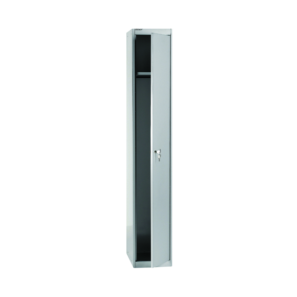 Cupboards H over 1200mm Bisley 1 Door Locker D305mm Goose Grey BY08945
