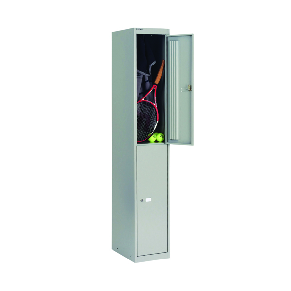 Lockers Bisley 2 Door Locker D305mm Goose Grey BY09212
