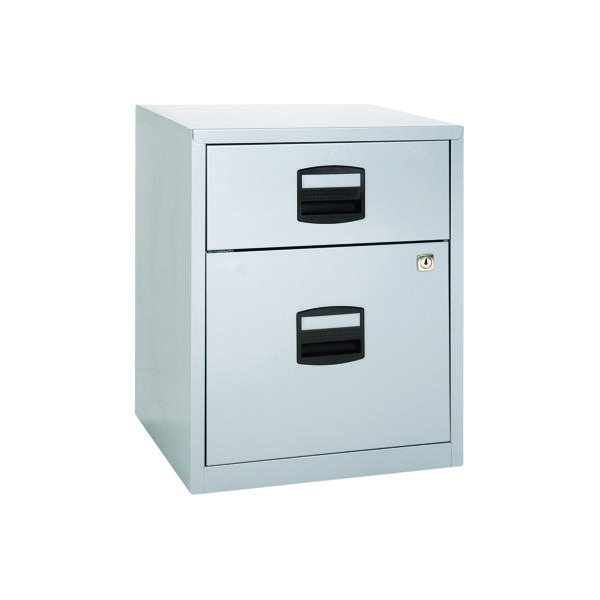 Two-Drawer Bisley 2 Drawer A4 Home Filer Grey BY11112