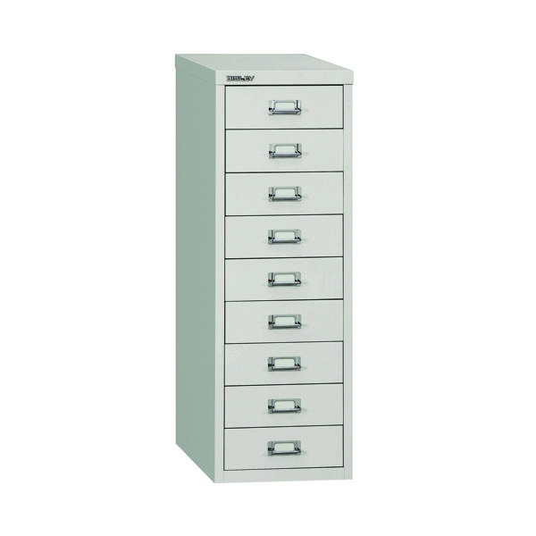 Multi-drawer Bisley 9 Drawer A4 Cabinet Grey H399NL-073