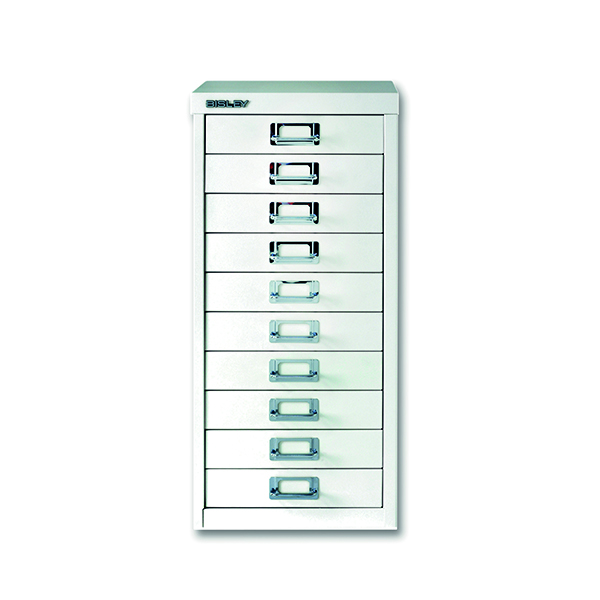 Multi-drawer Bisley 10 Drawer A4 Cabinet Chalk White BY19660