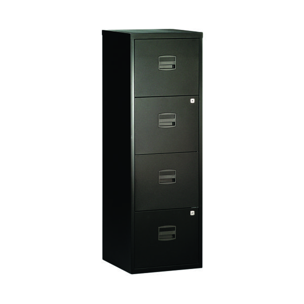 Four Drawer Bisley 4 Drawer A4 Home Filer Black BY31003