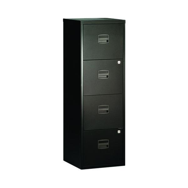 Bisley 4 Drawer A4 Home Filer Black BY31003