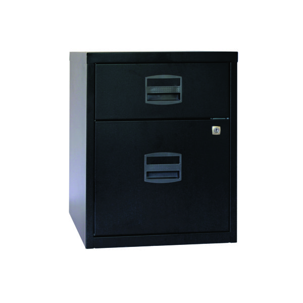 Two-Drawer Bisley 2 Drawer A4 Home Filer Black BY31012