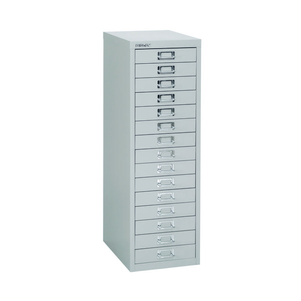 Multi-drawer Bisley 15 Drawer A4 Cabinet Grey H3915NL-073