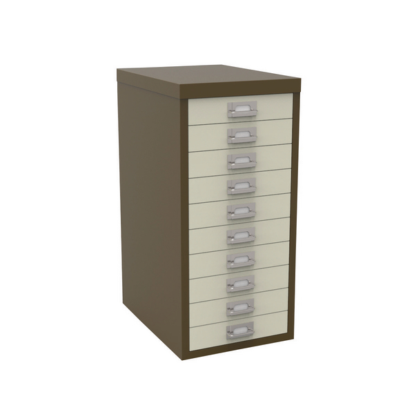 Multi-drawer Bisley 10 Drawer A4 Cabinet Coffee/Cream H2910NL-005006