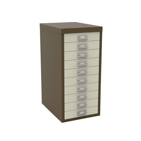 Bisley 10 Drawer A4 Cabinet Coffee/Cream H2910NL-005006