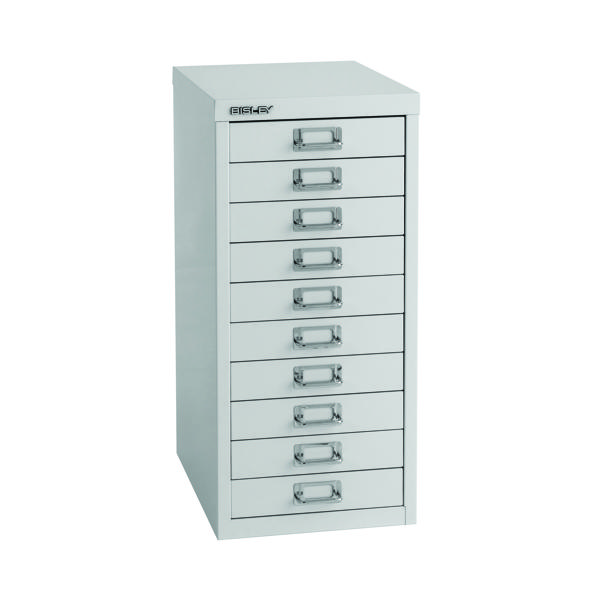 Multi-drawer Bisley 10 Drawer A4 Cabinet Grey H2910NL-073
