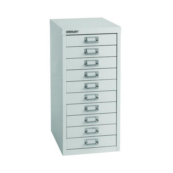 Bisley 10 Drawer A4 Cabinet Grey H2910NL-073