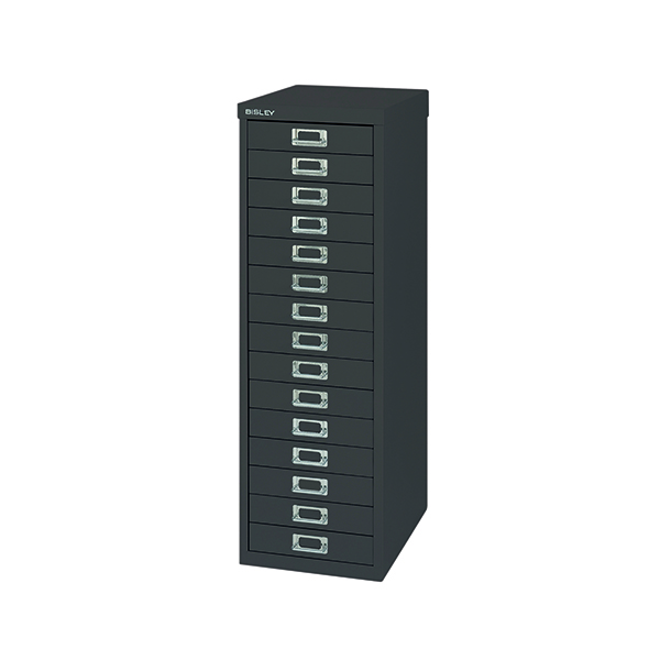 Multi-drawer Bisley 15 Drawer Cabinet Black BY39950