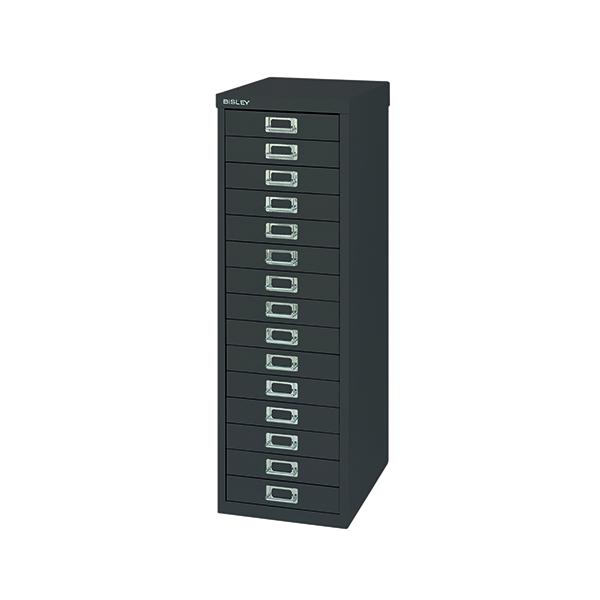 Bisley 15 Drawer Cabinet Black BY39950
