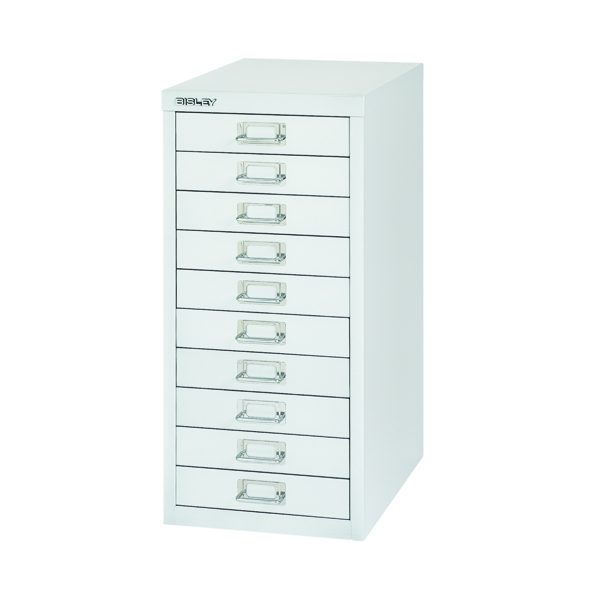 Multi-drawer Bisley 10 Drawer Cabinet Silver BY40500