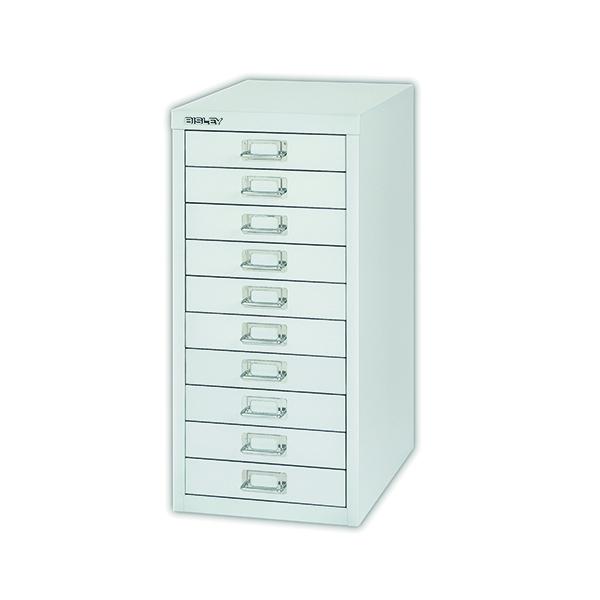 Bisley 10 Drawer Cabinet Silver BY40500