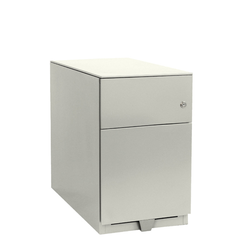Two-Drawer Bisley Mobile 1 Stationery 1 Filing Drawer Chalk White Note Pedestal BY42024