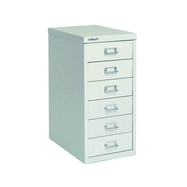 Multi-drawer Bisley 6 Drawer A4 Cabinet Grey H296NL-073