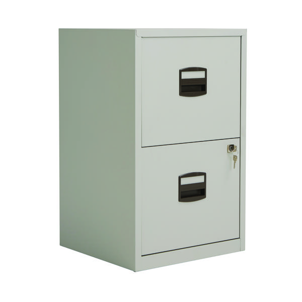 Two-Drawer Bisley 2 Drawer A4 Home Filer Goose Grey PFA2-87