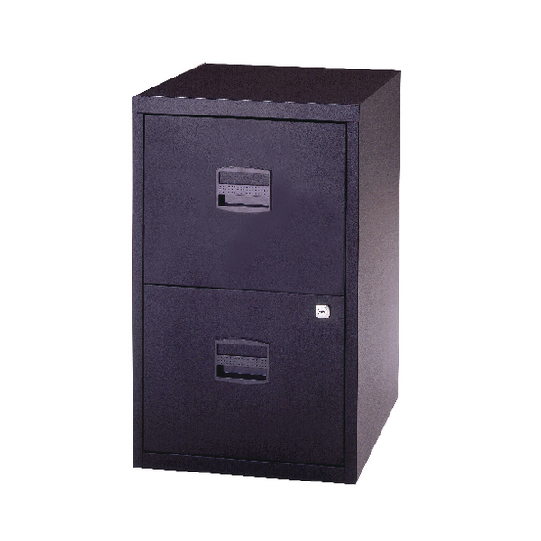 Two-Drawer Bisley 2 Drawer A4 Home Filer Black PFA2-03