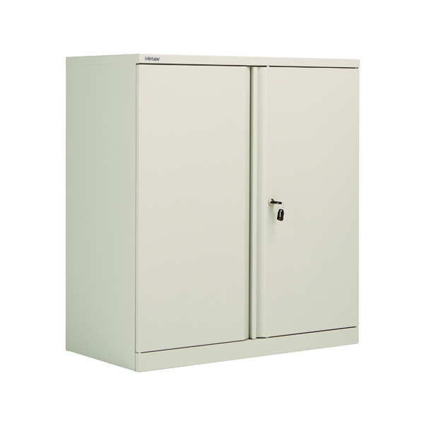 Cupboards H up to 1200mm Bisley 2 Door 1000mm Cupboard Empty Goose Grey KF78709